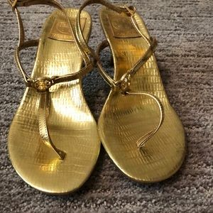BRAND NEW Tory Burch gold sandals